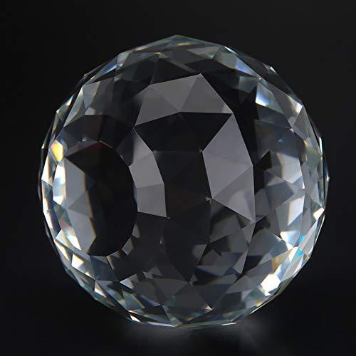 Jeanoko Bola de Cristal Transparente 60 / 80mm prismas Bola de Cristal Accesorios de Hardware de Bola de Cristal Caliente para la decoración del hogar(80MM/3.15in)