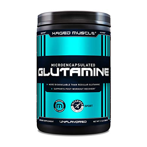 Kaged Muscle Kaged Muscle Microencapsulated L-glutamine Powder, Vegan Glutamine Supplement,unflavored,82 Servings, 500 Gram