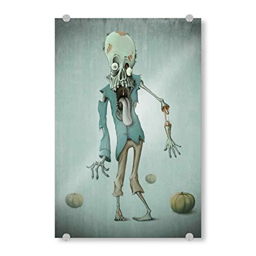 artboxONE Acrylglasbild 45x30 cm Comic Funny Zombie Bild hinter Acrylglas - Bild Zombie Undead Walking Dead