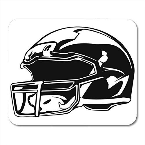Gaming Mausepad,Pad Maus Unterlage,Gummiunterseite Mausmatte,30X25Cm,Spieler-Amerikanischer Football-Helm-Schwarz-Sport-Ausrüstung Für Nationale Bürozubehöre, Nichtlippengummi Mousepad