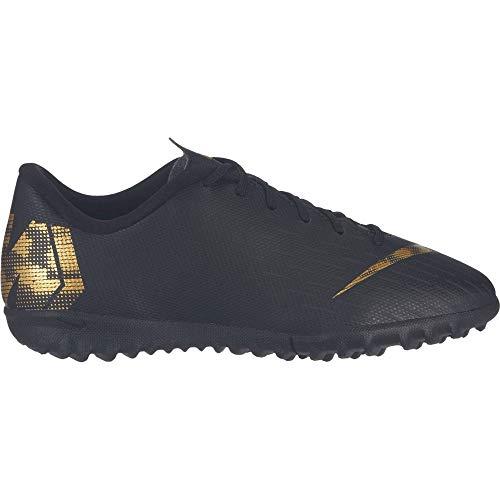 Nike Performance Mercurial VaporX XII Academy TF Fußballschuh Kinder schwarz/Gold, 2Y US - 33.5 EU - 1.5 UK