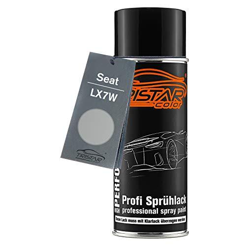 TRISTARcolor Autolack Spraydose für Seat LX7W Eissilber Metallic/Ice Silver Metallic Basislack Sprühdose 400ml