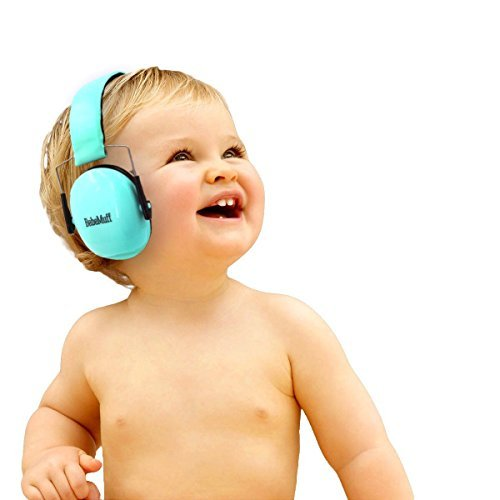 Bebe Muff Hearing Protection - Best USA Certified Noise Reduction Ear Muffs, Mint, 3 Months+