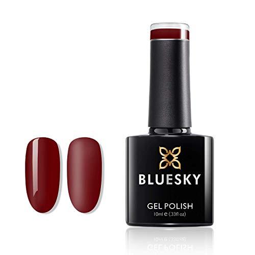 Gel Bluesky UV LED empapa del polaco de clavo, el paraíso de color rojo oscuro