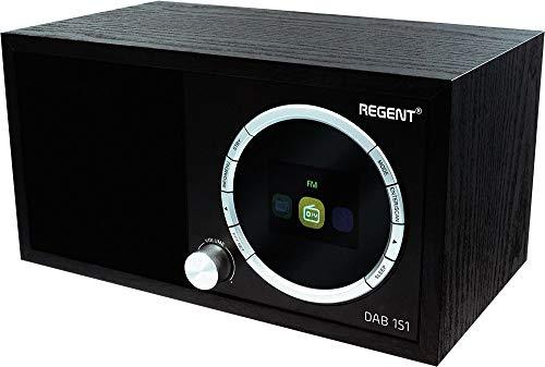 Regent Dab+151, FM, BT, Digitalradio mit Bassreflex. Digital Radio Schwarz, Bluetooth,Lautsprecher, Alarm