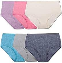 Fruit of the Loom Women's Underwear Beyond Soft Panties (Regular & Plus Size), Brief - 6 Pack - Assorted Color, 7
