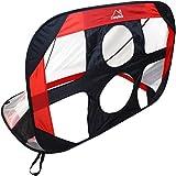 CampTeck U7169 Cage de Foot Enfant Portable Pop Up 2 en 1 avec Cibles Sac de Transport et Piquets de Fixation - Noir et Rouge