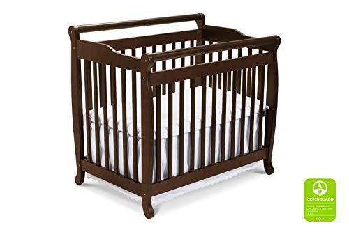 DaVinci Emily 2-in-1 Mini Crib and Twin Bed in Espresso | Greenguard Gold...