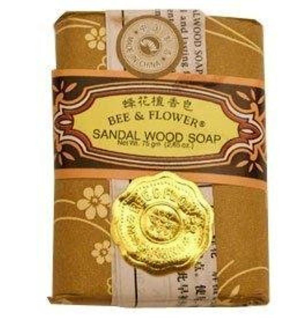 現実には章送ったBee And Flower Sandal Wood Bar Soap 2.65 Ounce - 12 per case. [並行輸入品]