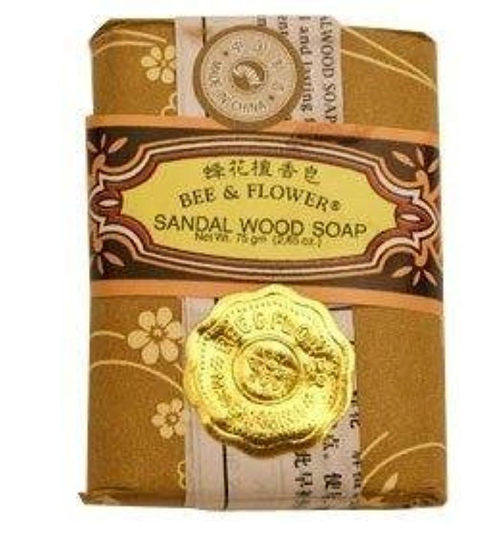 ウィザード桁絶対のBee And Flower Sandal Wood Bar Soap 2.65 Ounce - 12 per case. [並行輸入品]
