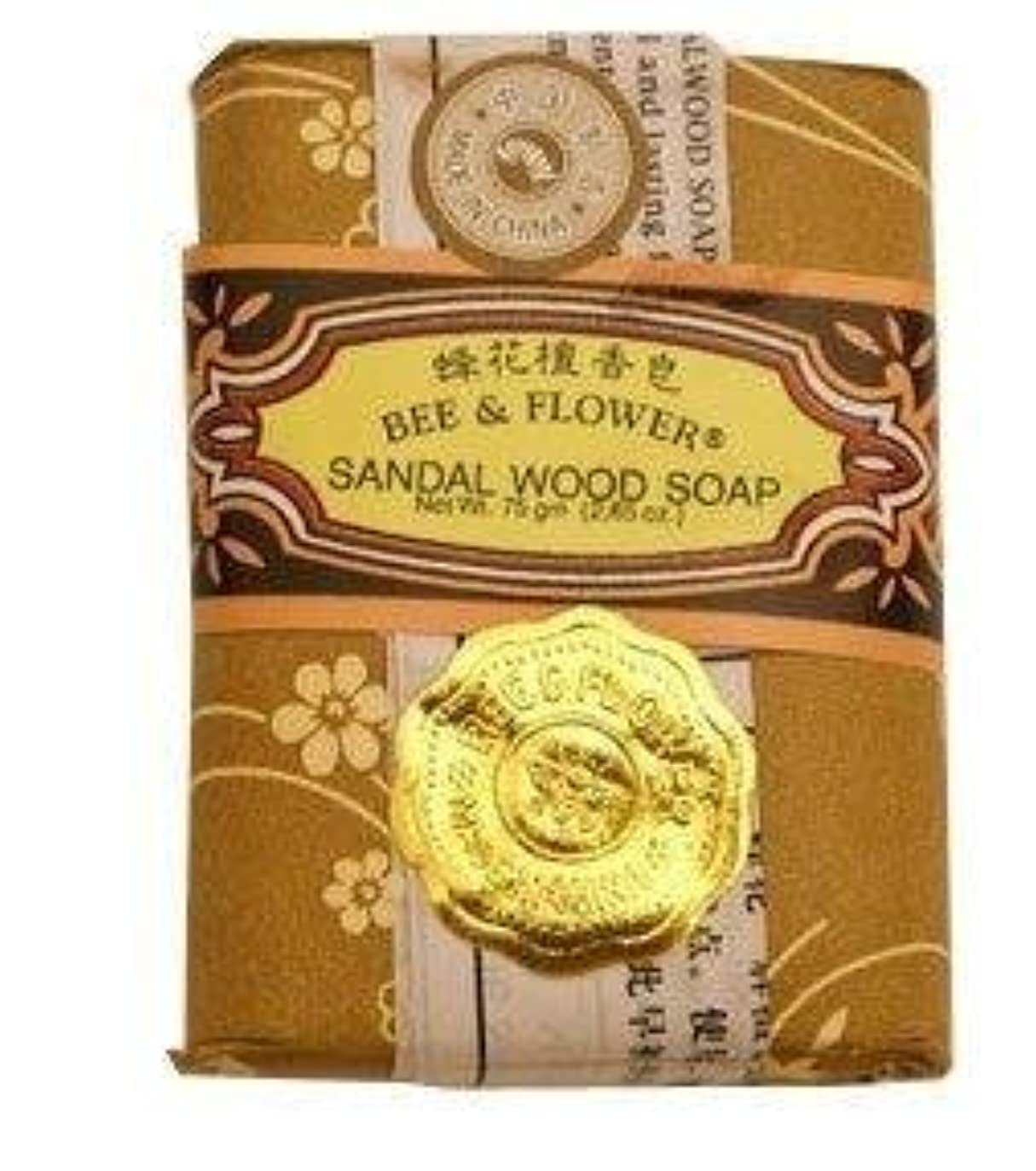 眼ピック手数料Bee And Flower Sandal Wood Bar Soap 2.65 Ounce - 12 per case. [並行輸入品]