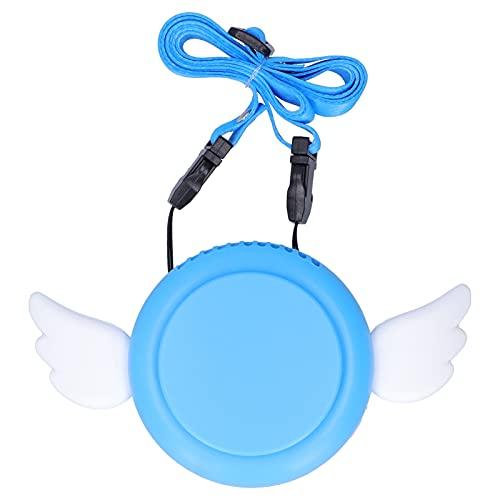 Lazmin112 Ventilador Eléctrico Portátil De Cuello Colgante, Ventilador Eléctrico De Carga USB Ajustable Ventilador Eléctrico Sin Aspas Mini Ventilador De Mano Ventilador De Mano Pequeño(Azul)