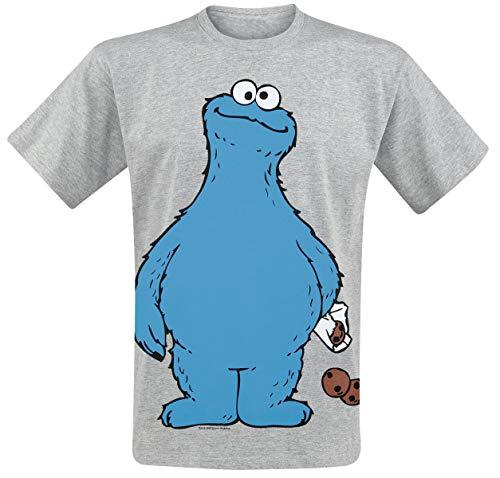 Sesamstrasse Krümelmonster - Cookie Thief Männer T-Shirt grau meliert L