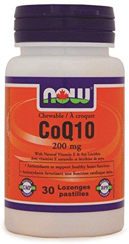 NOW CoQ10 200mg w/Lecithin + VIT-E 30 Lozenges, 20 g
