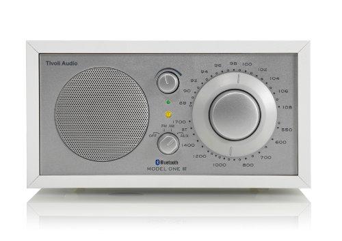 Tivoli Model One Bluetooth UKW-/MW-Radio in Weiß/Silber