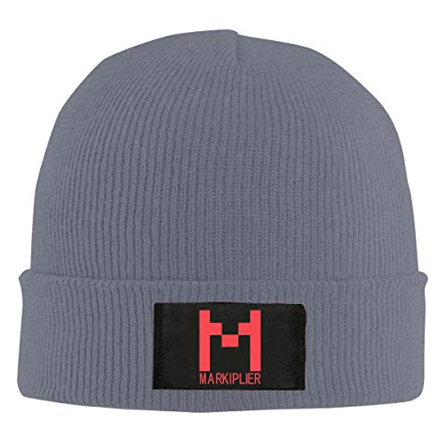 Markiplier Logo Print Womens Mens Winter Warm Hats Knit Beanie Hat Tollder Outdoor Caps Sun Hat for Women Men Deep Heather