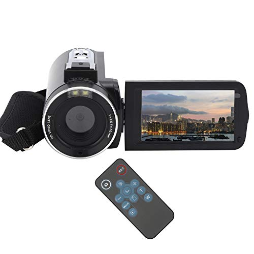 Videocámara de video, cámara de video digital de 3.0 pulgadas y 30 MP con zoom de 18x 4K, memoria extendida de 128G, antivibración, enfoque facial inteligente, para grabación de videos de YouTube