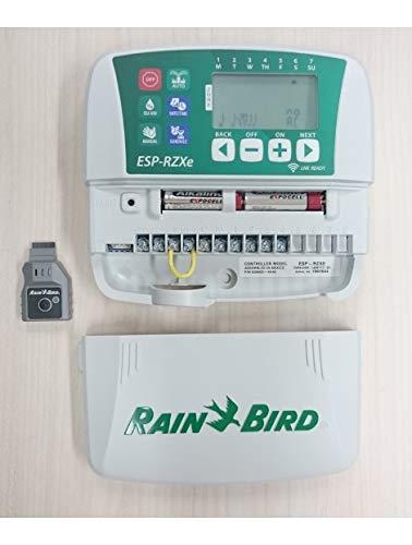 Rain Bird RZXe4i 230 - Programador 230 V 4 Estaciones, Blanco/Verde, 3.90 x 20.1 x 19.9
