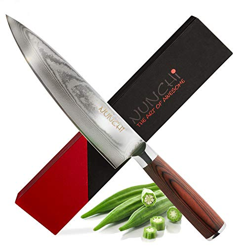 Chef's Knife - Professional 8 Inch Damascus Blade with Japanese VG-10 Stainless Steel - Chef Kitchen Knives, Beautiful Handcrafted 67 Layer Ultra Sharp