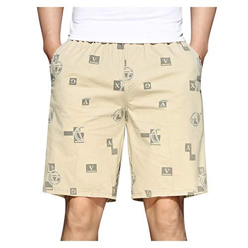 Bermudas para hombre, pantalones cortos para verano, informales, fitness, culturismo, deportes de presión, pantalones de jogging, verano, pantalones de trabajo, pantalones de playa S2119 caqui XXL