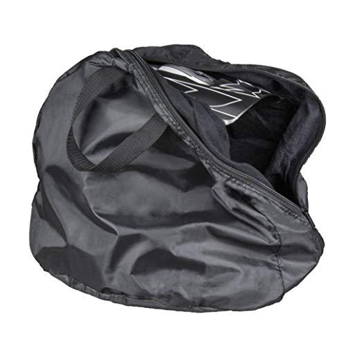 Raider Durable Deluxe Nylon Velvet Lined Motorcycle Storage Helmet Bag, Black