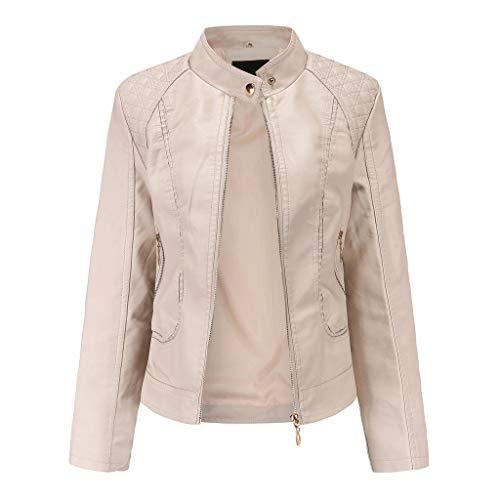 Plus Size Coats,DaySeventh SolidWinter Warm Women Short Coat Leather Jacket Parka Zipper Tops Overcoat Outwear Khaki