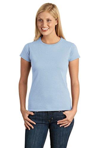 Gildan Junior-Fit Softstyle T-Shirt - Light Blue - M
