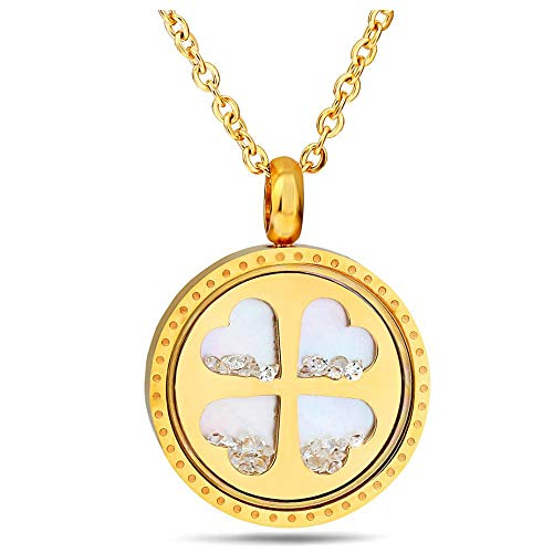 Simple Design Fashion Personality Lady All-Match Creative Classic Match Titanium Steel Four-Leaf Clover Pendant Necklace