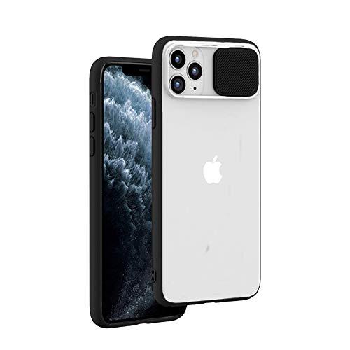 Tybiky Kameraschutz für iPhone 12 Hülle, iPhone 12 Silikon Schutzhülle mit Drücken Ziehen Camera Slider Schutz Matte Translucent Handyhülle Anti-Scratch Case Cover für iPhone 12 (6,1'') Schwarze New