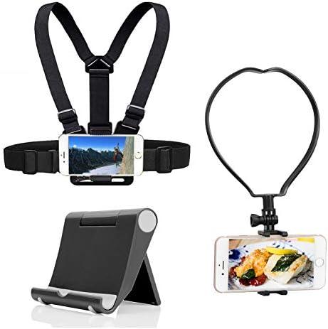 Yoogeer VLOG POV Cellphone Selfie Chest Neck Mount Strap Phone Desk Stand Holder for Gopro Action product image