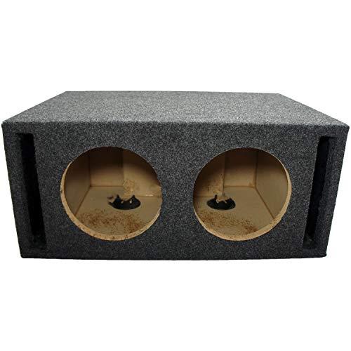 Car Audio Dual 8' SPL Bass Subwoofer Labyrinth Vent Sub Box Stereo Enclosure