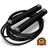 Ballistyx Jump Rope - Premium Speed Jump Rope with 360 Degree Spin, Steel Handles, Silicone Grips...