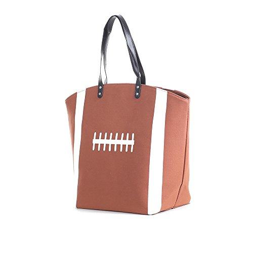 E-FirstFeeling Large Football Tote Bag Sports Prints Tote Football Mom Handbag Travel Bag (Football)