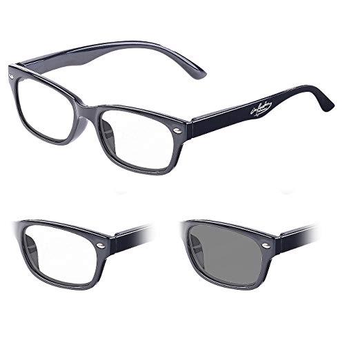 infactory Sonnenbrille: Selbsttönende Lesebrille mit UV-Schutz 400, 1,0 Dioptrien (Sonnen-Lesebrille)