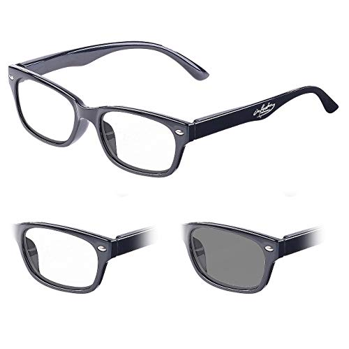 infactory Lesebrille Sonnenschutz: Selbsttönende Lesebrille mit UV-Schutz 400, 2,0 Dioptrien (Lesesonnenbrille)