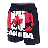 DCVFB Canada Flag Football Rugby Teens Beach Shorts Boys Girls Running Trunks with Drawstring