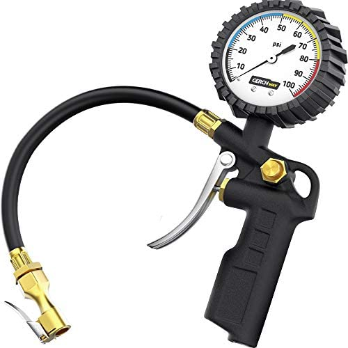 GERCHWAY Tire Inflator with Pressure Gauge Large Glow Dial Swivel Air Chuck with Gauge and Air product image