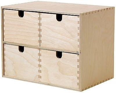 IKEA MOPPE Mini-commode en bois de bouleau 29x 18x 22cm Rangement Tiroirs