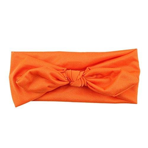 Bandeau large en lycra modèle orange foncé