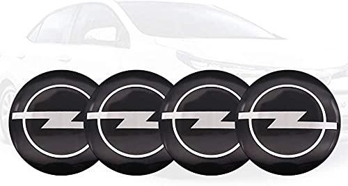 4 Piezas de Cubierta Central de Rueda de Coche, Adecuada para Opel Astra H G J Corsa Insignia Antara Meriva 56mm llanta de aleación Cubierta de Cubo Central Forma de Insignia Accesorios de decoración