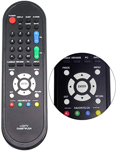 New GA667WJSA Replacement Remote Control for Sharp TV LC-32D49 LC-32D49U LC-37SB24 LC-32D44 LC-32D44U LC32D47U LC52SB55U LC37D44U LC-32D47 LC-32D47UT