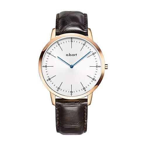 ABART Reloj de Pulsera para Hombres A.B. Art FL41–001Sun-Ray Esfera Azul Movimiento de Cuarzo Reloj para Hombre