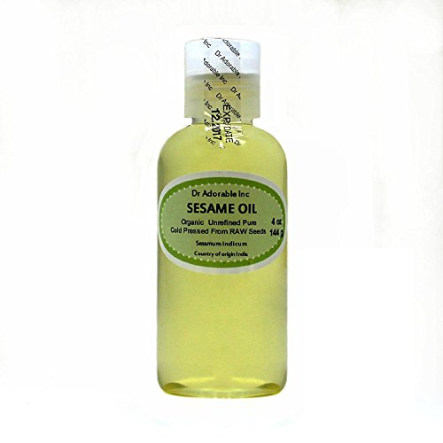 Sesame Seed Oil Unrefined Organic From Raw Seed by Dr.Adorable 8 Oz