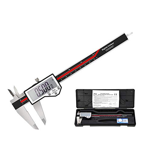 "Digital Caliper, 6"" Caliper Measuring Tool Extreme Accuracy Waterproof Electronic Vernier Caliper Industrial Stainless Steel Digital, Durable Measuring Tool with Large LCD Screen"