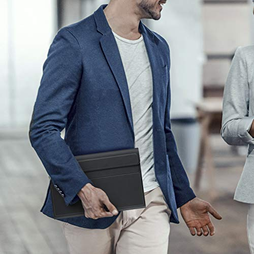 EasyAcc Tastatur Hülle Kompatibel mit Lenovo Tab M10 HD 2nd Gen 10.1 Zoll TB-X306X/TB-X306F, Beleuchtete Tastatur Magnetische Kabelloser Bluetooth Abnehmbare Deutsche QWERTZ Schutzhülle, Schwarz