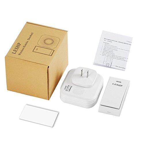 FVE LESHP Music Wireless Türklingel 150M Fernbedienung mit US-Stecker