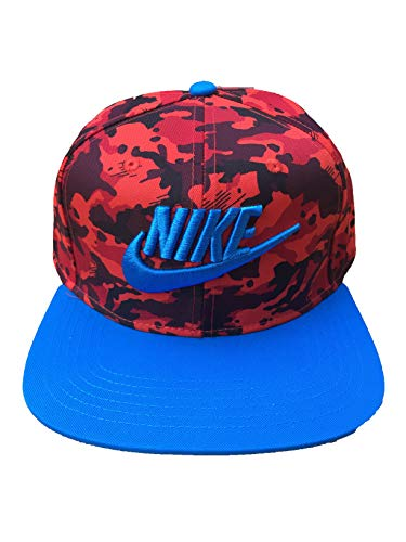 Nike Boys' True Adjustable Camo Hat (Camo(AV8016-634)/Blue, One Size)