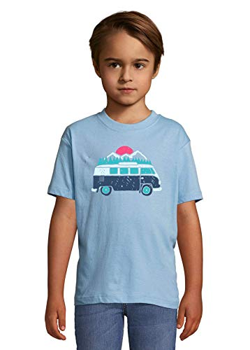 Travel The World Hippie Oldschool Van Nature Graphic Heaven Kids Colorful T-Shirt 2 Year Old (86/94cm)