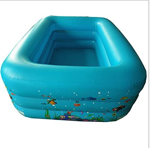 JOK Piscina inflable, Piscina de ajuste simple, Caminante Niños Adulto Lounge Piscina, Al aire libre, Jardín, Patio trasero