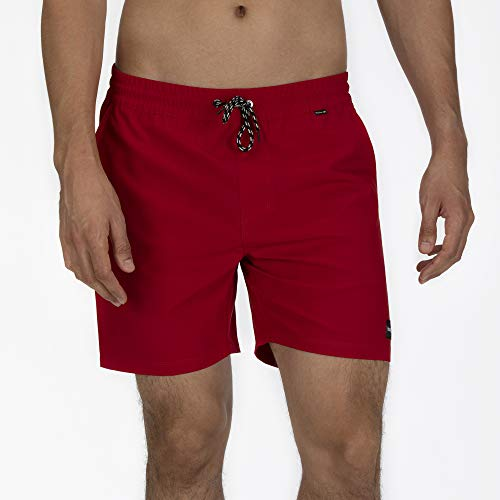Hurley M One&Only Volley 17' Bañador, Hombre, Gym Red